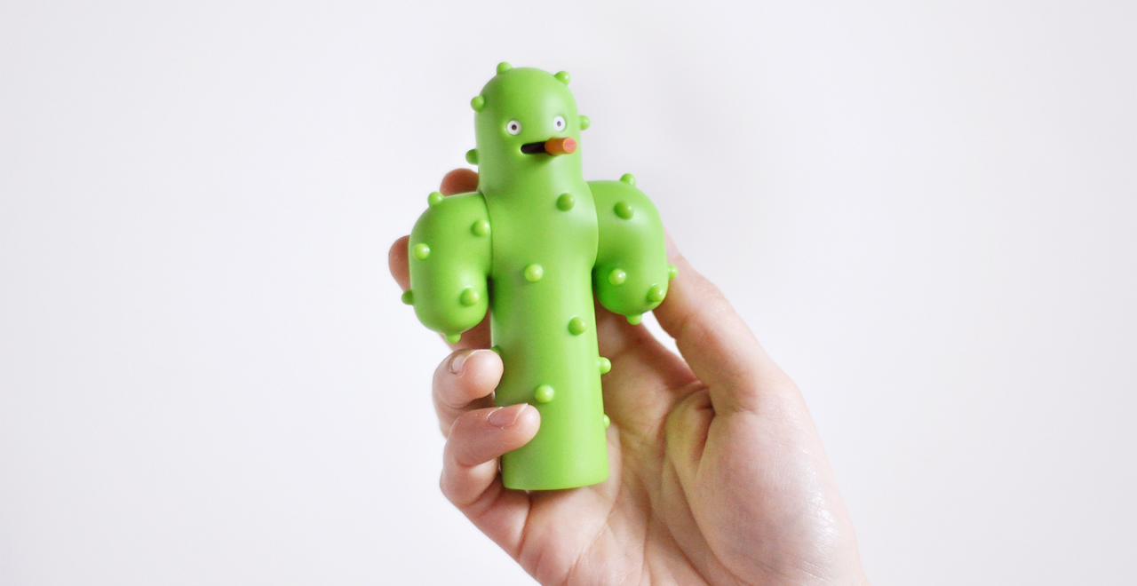 Cactus collectible art toy