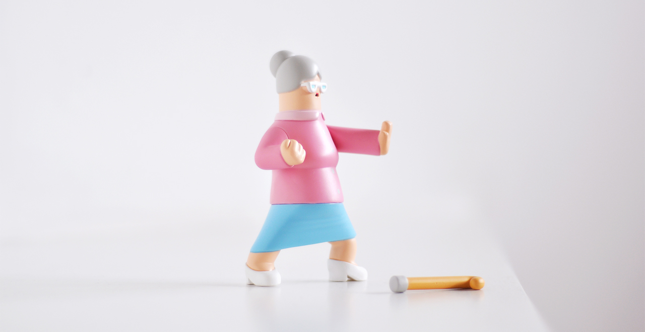 Granny collectible art toy