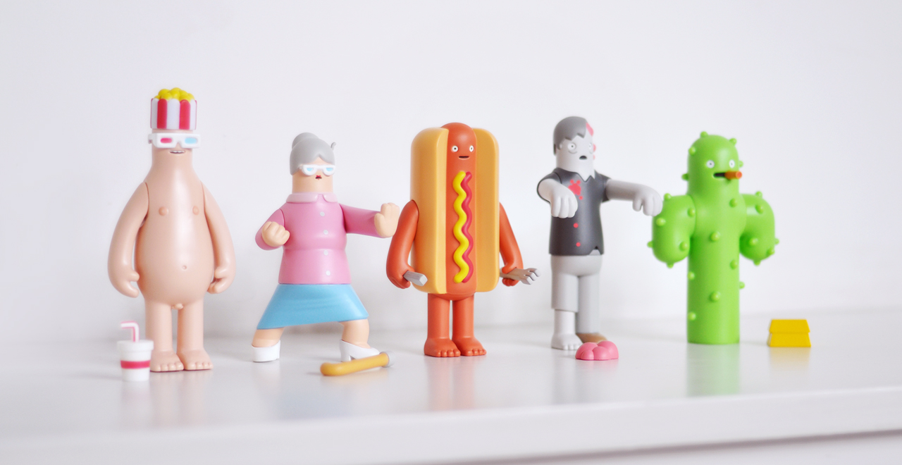 Hotdog collectible art toy