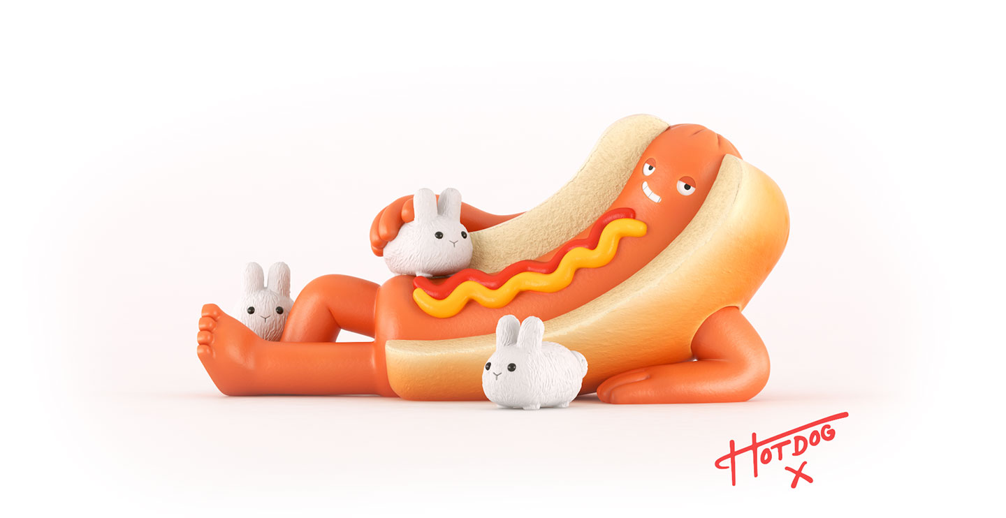 Hotdog Rabbits illustration
